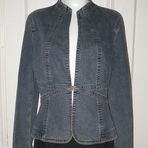 Elie Tahari Blue Denim jacket Size Large